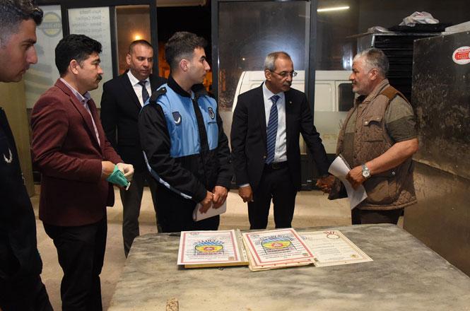 Mersin Tarsus'ta Belediye Başkanından Fırıncılara Gece Yarısı Denetimi
