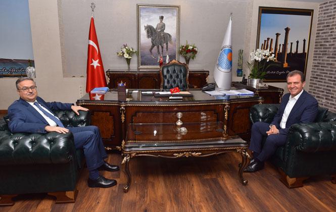 Mersin Valisi Su'dan, Belediye Başkanı Seçer' Ziyaret