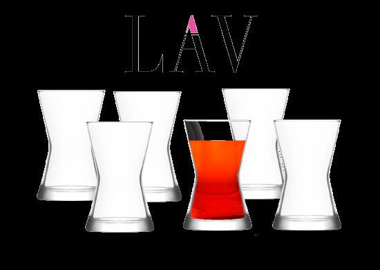 6'lı Derin Çay Bardağı LAV