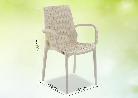 Sandalye Rattan Görünümlü