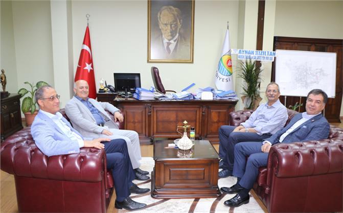 Mersin TSO Başkanı Kızıltan ve Tarsus TSO Başkanı Koçak'tan Tarsus'ta İstişare Ziyaretleri