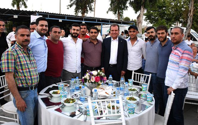 Yaş Sebze ve Meyve Komisyoncuları Derneği Yönetimi ve Üyeleri, İftar Sofrasında Başkan Seçer'le Bir Araya Geldi