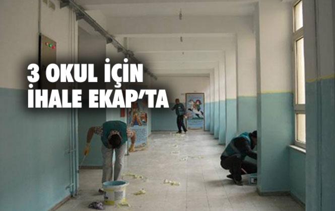 Mersin'in Tarsus İlçesindeki 3 Okulun Tadilatı İçin İhale EKAP'ta Yayınlanıyor