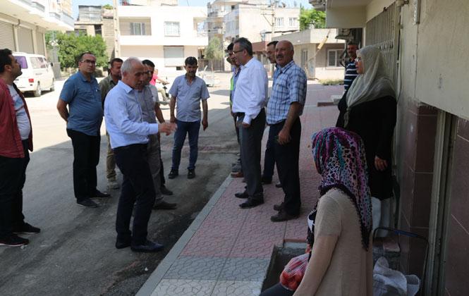 Akdeniz Belediye Başkanı Mustafa Gültak'tan, Güneş ve Şevket Sümer Mahallelerini Ziyaret
