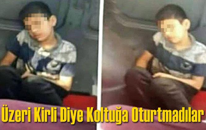 Mersin Erdemli'de Yürekleri Sızlatan Olay, Tamirci Çırağı Çocuğu Üzeri Kirli Diye Minibüs Koltuğuna Oturtmadılar
