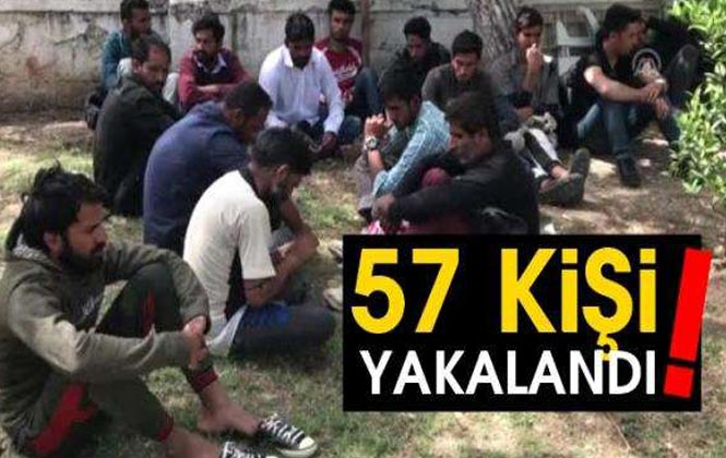 Mersin'de Yasa Dışı Yollarla Ülkeye Giriş Yaptığı Tespit Edilen 57 Düzensiz Göçmen Yakalandı