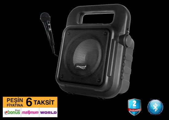 Taşınabilir Mikrofonlu Bluetooth Speaker Amfi