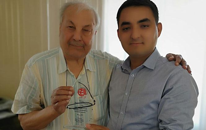 Harita Kadastro Mühendisi Nevzat Tutucu'ya Meslek Onur Ödülü