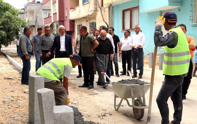 Akdeniz Belediye Başkanı Gültak, Çalışmaları Mahallinde Denetledi