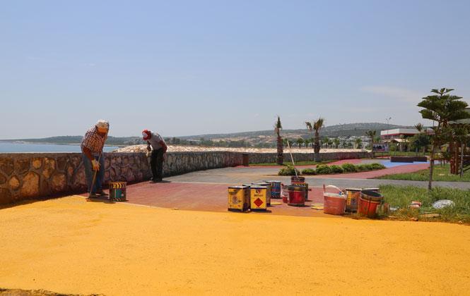 Mersin Erdemli Kızkalesinde Sezon Hazırlığı
