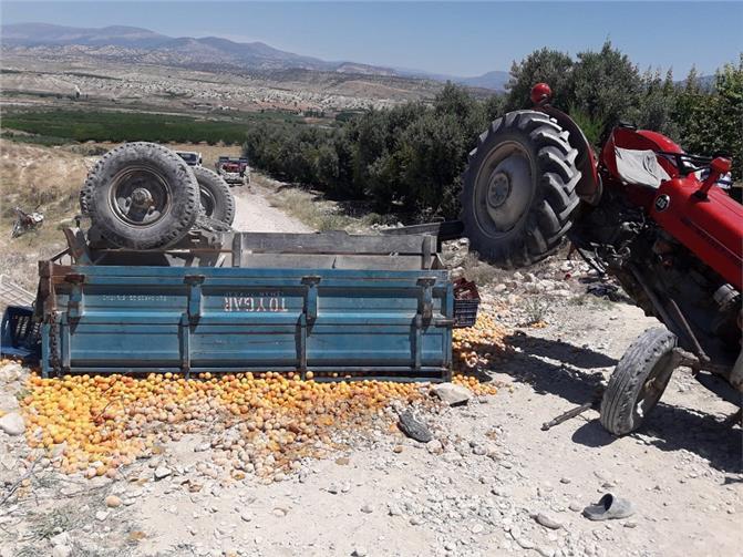 Mersin Mut'ta Traktör Kazası Meydana Geldi