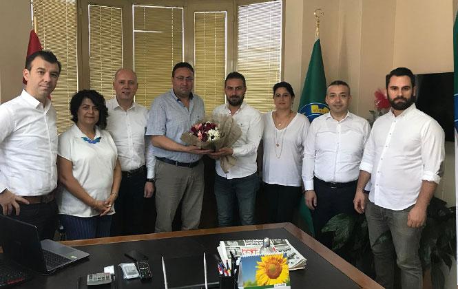 TSO Sigorta Hizmetleri Meslek Komitesinden, Ziraat Odası Başkanı Avcı'ya Ziyaret