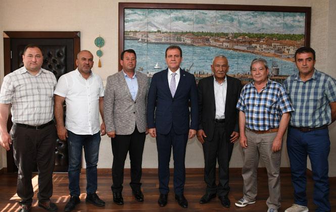 Mersin Akdeniz Ziraat Odası'ndan Vahap Seçer'e Hayırlı Olsun Ziyareti