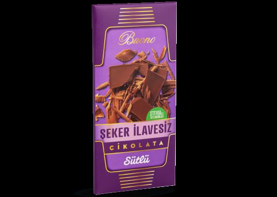 Şeker İlavesiz Sütlü Çikolata Buono 100 gr