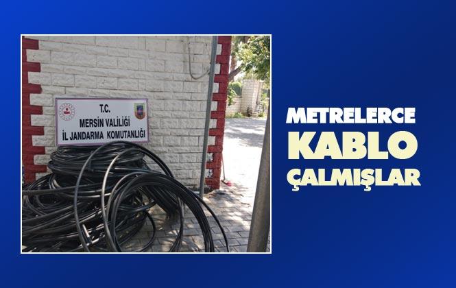 Mersin Silifke'de Tür Telekom'a Ait Kabloları Çalan Şahıslar Yakalandı