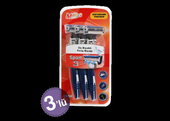 3 Bıçaklı Tıraş Bıçağı Man's Sport