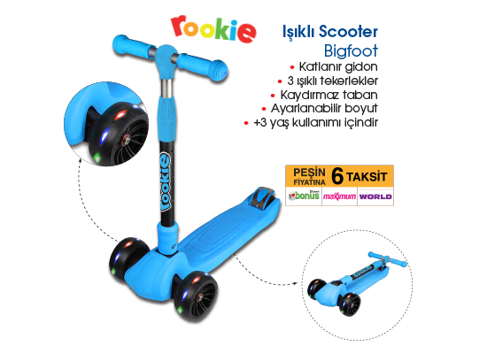 Işıklı Scooter Bigfoot
