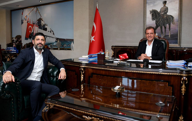 Milli Basketbolcu Ömer Onan'dan Başkan Seçer'e Ziyaret
