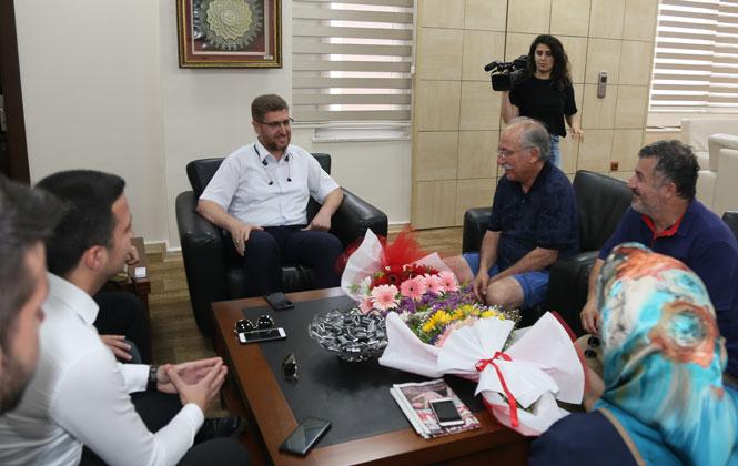 Altan Erkekli ve Veysel Diker'den Akdeniz Belediyesi'ne Ziyaret