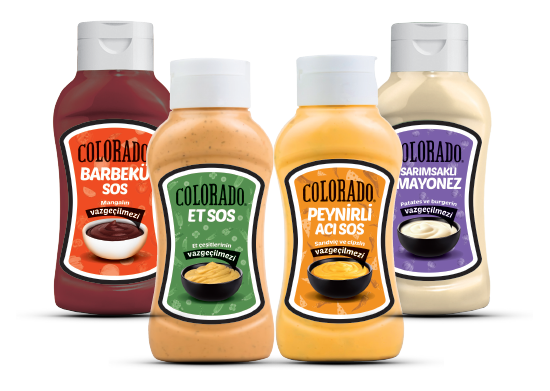 Barbekü Sos/Et Sos/ Peynirli Acı Sos/ Sarımsaklı Mayonez Colorado 300 ml