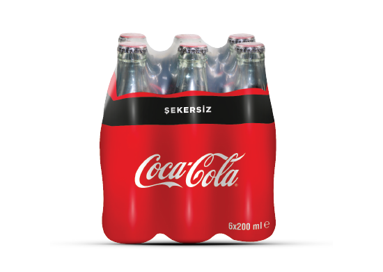 Coca Cola Şekersiz 6x200 ml
