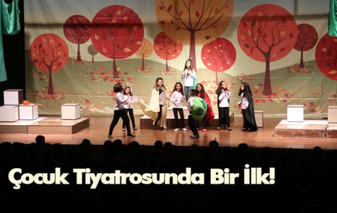 Çocuk Tiyatrosunda Bir İlk! Mersin'in Erdemli Belediyesi Şehir Tiyatrosu, 'kış Masalı' Adlı Çocuk Oyununun Gala Gösterimini Gerçekleştirdi.