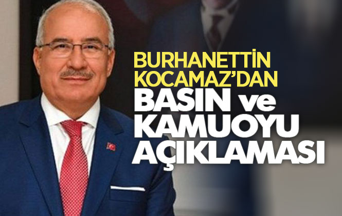 Önceki Dönem Mersin Büyükşehir Belediye Başkanı Burhanettin Kocamaz'dan Sinek İlacı İhalesi Hakkında Basın Açıklaması
