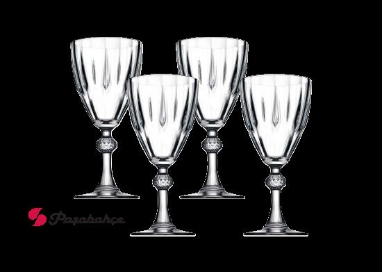 4'lü Diamond Ayaklı Su Bardağı