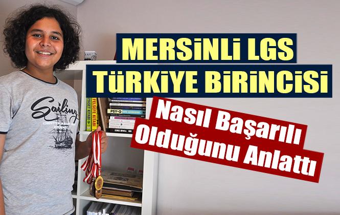"""Mersinli LGS Türkiye Birincisi Salih Oğuz Pırlak: """"Dersi Derste Dinleyin"""""""