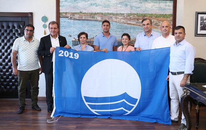 """Mersin Kızkalesi ve Susanoğlu Halk Plajına Mavi Bayrak! Başkan Seçer: """"Mavi Bayraklı Plaj Sayımızı Artıracağız"""""""