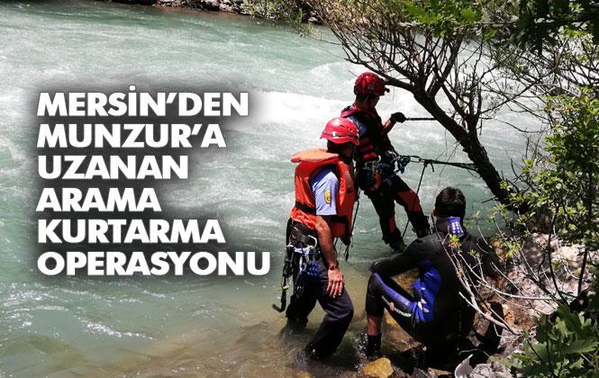 Muzur Çayına Düşerek Kaybolan Genç Engin Eroğlu'nu Arama Kurtarma Çalışmaları; Mersin'den Munzur'a Uzanan Arama Kurtarma Operasyonu