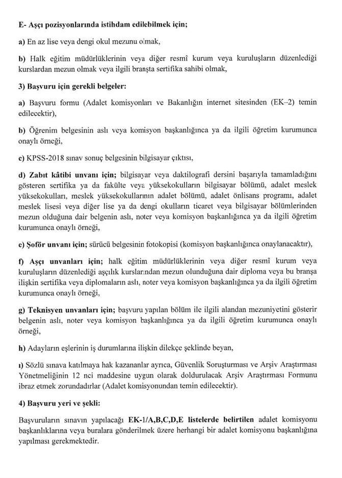 adalet bakanligina 4 bin 424 personel