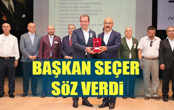 Mersin Büyükşehir Belediye Başkanı Vahap Seçer Tarsus Gıda İhtisas OSB İçin Beklenen Müjdeyi Verdi
