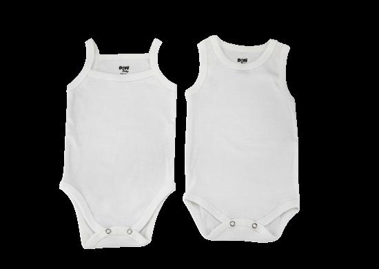 2'li Beyaz Bebek Body