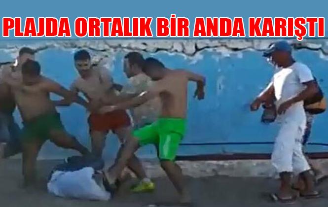 Antalya'da Eşini Döven Adamı Vatandaşlar Tekme Tokat Dövdü