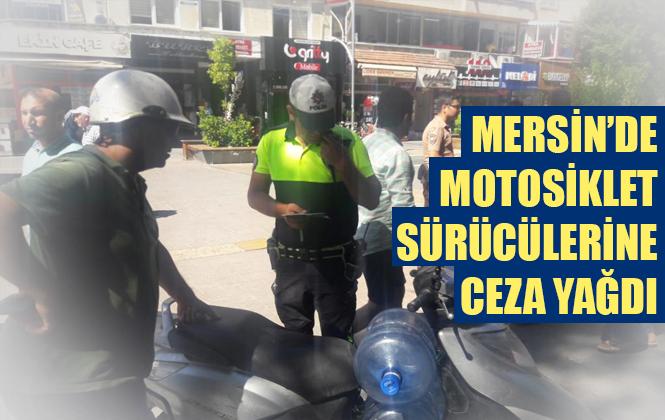 Mersin'de Motosiklet Sürücülerine Trafik Denetimi Yapıldı