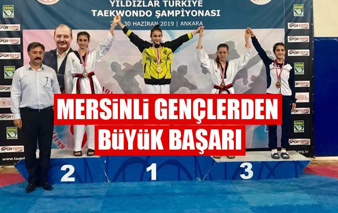 Mersinli Taekwondoculardan Türkiye Şampiyonasında Büyük Başarı