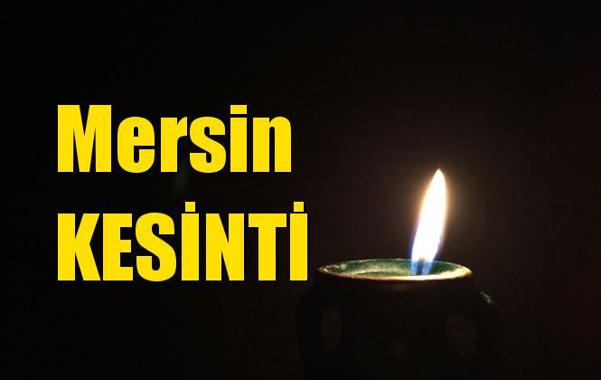 Mersin Elektrik Kesintisi 7 Temmuz Pazar