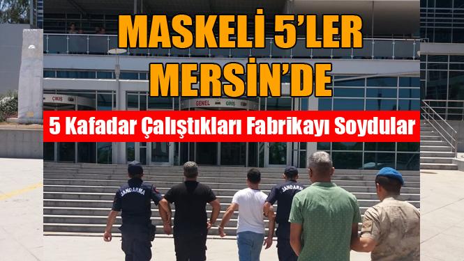 Mersin'de Çalıştıkları Fabrikadan Hırsızlık Yapan 5 Kişi Yakalandı
