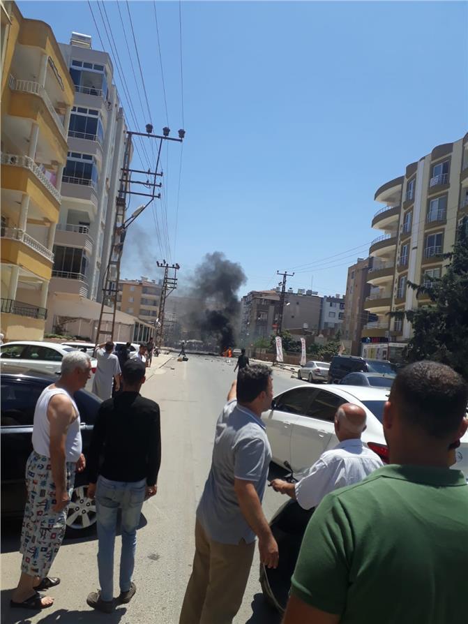 Son Dakika! Hatay'ın Reyhanlı İlçesinde Bomba Yüklü Araç Patladı
