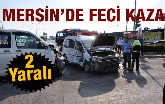 Mersin Tarsus'ta meydana gelen trafik kazasında 2 kişi yaralandı.