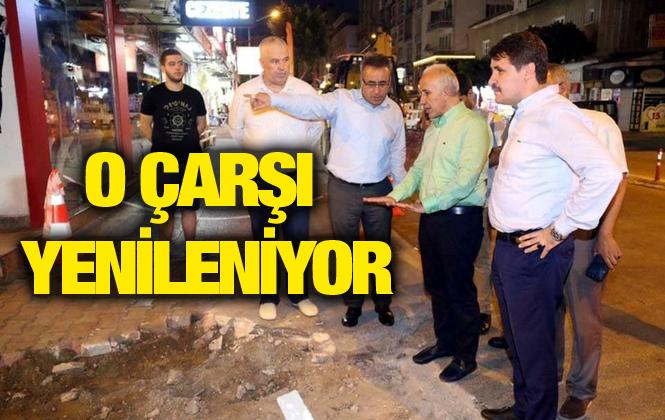 Mersin'de Zafer Çarşısı Sokakları Yenileniyor