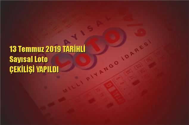 Sayısal Loto Sonuçları 13 Temmuz 2019 Tarihli Kazandıran Sayılar
