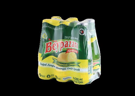 C Vitaminli Limonlu Doğal Zengin Mineralli Gazlı İçecek Beypazarı 6x200 ml