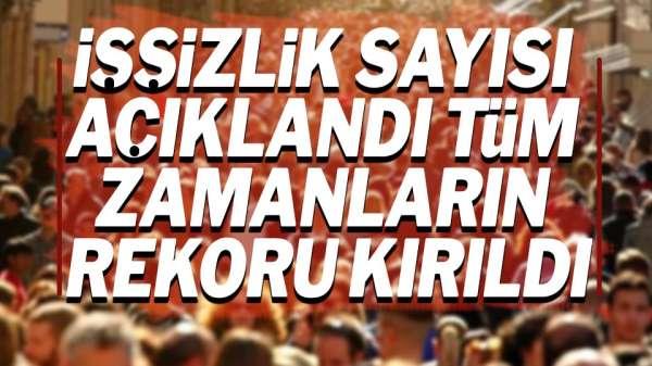 Türkiye'de ki İşsizlik Rakamları Açıklandı.