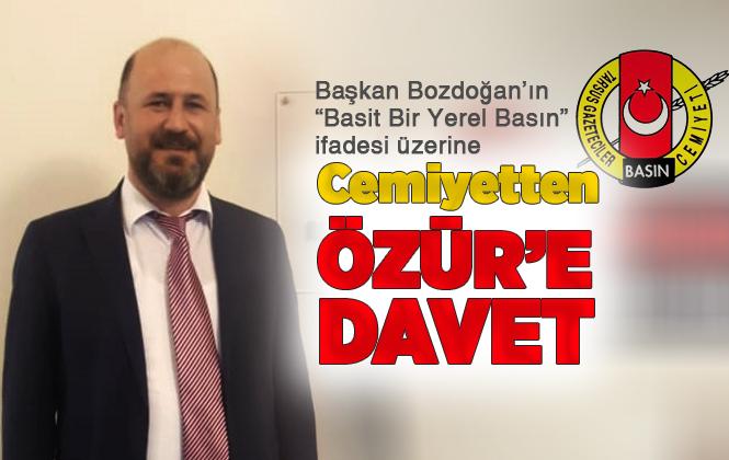 """""""Basit Bir Yerel Basın"""" İfadelerini Kullanan Başkan Bozdoğan'a, Tarsus Gazeteciler Cemiyetinden Özür'e Davet"""