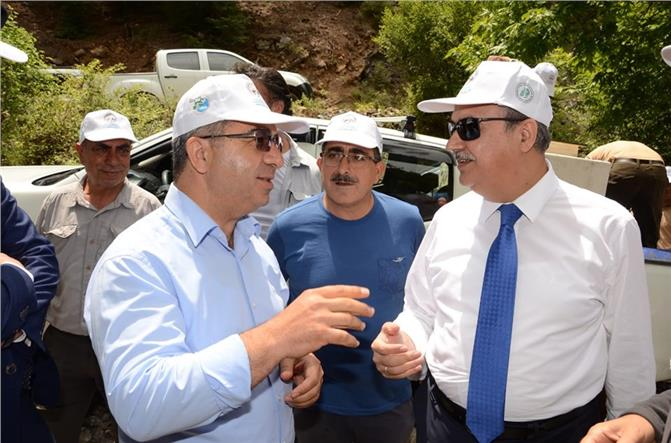 Mersin Valisi Ali İhsan Su, Çamlıyayla'ya Hayran Kaldı