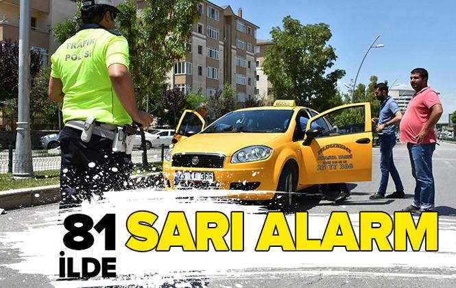 81 İlde Taksi Denetimi: Bin 551 Taksi Şoförüne Para Cezası