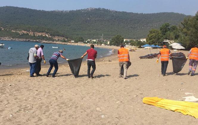Büyükeceli Sahili, Büyükşehir Tarafından Temizlendi