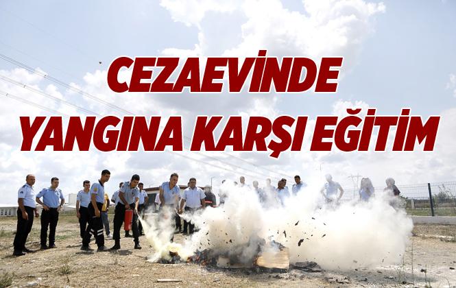 Mersin'de İnfaz Memurlarına Yangın Eğitimi